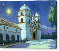 Santa Barbara Mission Moonlight Acrylic Print