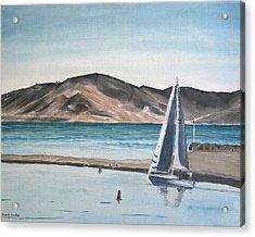 Santa Barbara Sailing Acrylic Print by Ian Donley