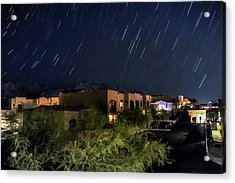 Acrylic Print featuring the photograph Santa Catalina Mountain Startrails by Dan McManus