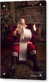 Santa Checking His List Acrylic Print by Diane Diederich