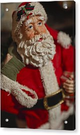 Santa Claus - Antique Ornament - 02 Acrylic Print by Jill Reger