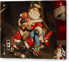 Santa Claus - Antique Ornament -05 Acrylic Print by Jill Reger