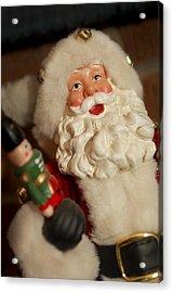 Santa Claus - Antique Ornament - 25 Acrylic Print by Jill Reger