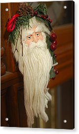 Santa Claus - Antique Ornament - 29 Acrylic Print by Jill Reger