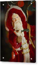 Santa Claus - Antique Ornament - 32 Acrylic Print by Jill Reger
