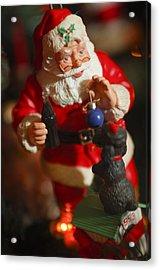 Santa Claus - Antique Ornament - 33 Acrylic Print by Jill Reger
