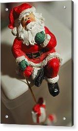 Santa Claus - Antique Ornament - 35 Acrylic Print by Jill Reger