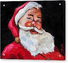 Santa Claus Acrylic Print by Carole Foret