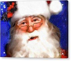 Christmas Cards Santa Claus Christmas Cards Acrylic Print