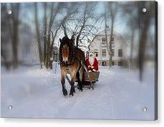Santa Claus Acrylic Print by Conny Sjostrom