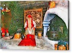 Santa Claus Acrylic Print by George Rossidis