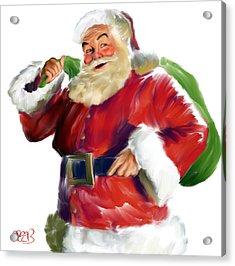 Santa Claus Acrylic Print by Mark Spears
