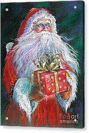 Santa Claus - The Perfect Gift Acrylic Print by Shelley Schoenherr