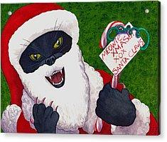 Santa Claws Acrylic Print by Catherine G McElroy