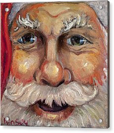 Santa Closeup Acrylic Print by Sheila Kinsey