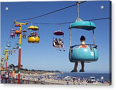 Santa Cruz Beach Amusement Park  Acrylic Print