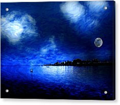 Santa Cruz Evening 2 Acrylic Print by Cary Shapiro