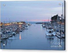 Santa Cruz Harbor At Dusk Acrylic Print by Theresa Ramos-DuVon