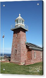 Santa Cruz Lighthouse Surfing Museum California 5d23937 Acrylic Print by Wingsdomain Art and Photography