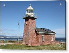 Santa Cruz Lighthouse Surfing Museum California 5d23940 Acrylic Print by Wingsdomain Art and Photography