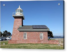 Santa Cruz Lighthouse Surfing Museum California 5d23942 Acrylic Print by Wingsdomain Art and Photography