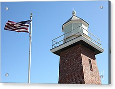 Santa Cruz Lighthouse Surfing Museum California 5d23951 Acrylic Print by Wingsdomain Art and Photography