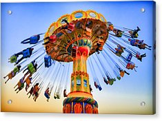 Santa Cruz Seaswing At Sunset 6 Painterly Acrylic Print