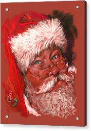 Santa  Acrylic Print by Debra Jones