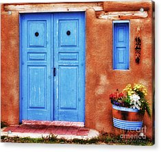 Santa Fe Doorway Acrylic Print by Clare VanderVeen
