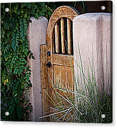 Acrylic Print featuring the photograph Santa Fe Gate by Patrice Zinck