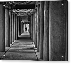 Acrylic Print featuring the photograph Santa Fe New Mexico Walkway by Ron White