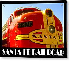 Santa Fe Railroad Color Poster Acrylic Print by Art America Gallery Peter Potter