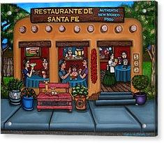 Santa Fe Restaurant Acrylic Print by Victoria De Almeida