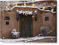 Santa Fe Style Southwestern Adobe Door Acrylic Print