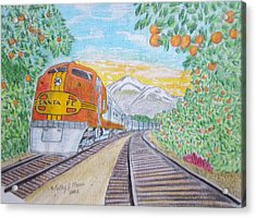Santa Fe Super Chief Train Acrylic Print