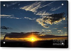 Santa Fe Wildfire At Sunset Acrylic Print