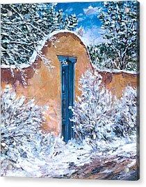 Santa Fe Winter Acrylic Print by Steven Boone