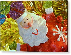 Santa Greetings Acrylic Print