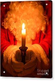 Santa Holding Candle Acrylic Print