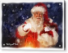 Santa Is Comin' To Town Acrylic Print by Ted Azriel