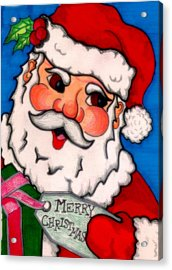 Santa  Acrylic Print by Jame Hayes