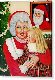 Santa Acrylic Print by Joni McPherson