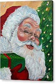 Santa Acrylic Print by Julie Brugh Riffey