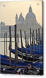 Santa Maria Della Salute By Gondolas Acrylic Print by Sami Sarkis