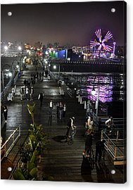 Santa Monica Acrylic Print by Gandz Photography