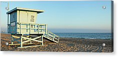 Santa Monica Lifeguard Station Acrylic Print by S. Greg Panosian