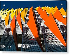 Santa Monica Parking Acrylic Print by Michael Hope