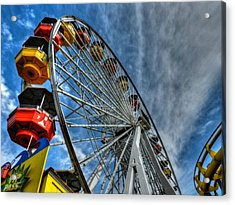 Santa Monica Pier 006 Acrylic Print by Lance Vaughn