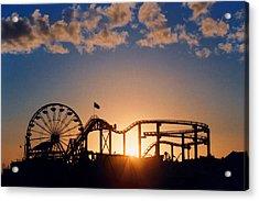 Santa Monica Pier Acrylic Print by Art Block Collections