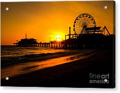 Santa Monica Pier California Sunset Photo Acrylic Print